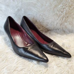 GUCCI SHOES Classy Black Pointed Stiletto Pumps